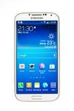 Varna Bułgaria, Czerwiec, - 19, 2013: Telefonu komórkowego Samsung wzorcowa galaktyka Obraz Stock
