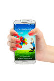 Varna Bułgaria, Czerwiec, - 19, 2013: Telefonu komórkowego Samsung wzorcowa galaktyka Obraz Royalty Free