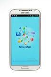 Varna Bułgaria, Czerwiec, - 19, 2013: Telefonu komórkowego Samsung wzorcowa galaktyka Fotografia Royalty Free
