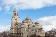 Varna, Bulgária Catedral do estilo bizantino Foto de Stock Royalty Free