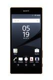 Varna, Bulgária - 25 de novembro de 2015: Telefone celular Sony Xperia modelo Fotos de Stock