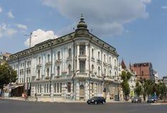 VARNA, BULGARIA - 14 AGOSTO 2015: Quadrato di città principale dei san Kirill e Mefodiy Fotografia Stock Libera da Diritti