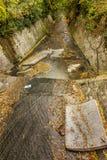 Varna, Bulgaria - 2015: Aguas residuales y hogar sucios AR inútil Imágenes de archivo libres de regalías