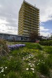 VARNA, BULGARIA - April 2015 - Joliot-curie hotel Stock Images
