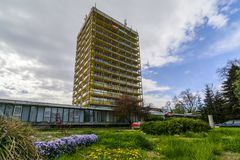 VARNA, BULGARIA - April 2015 - Joliot-curie hotel Royalty Free Stock Photo