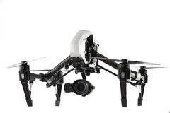 Varna, Bulgaria - April 22 ,2016: Image of DJI Inspire 1 Pro drone UAV quadcopter which shoots 4k video and 16mp still images. And is controlled by wireless stock photo