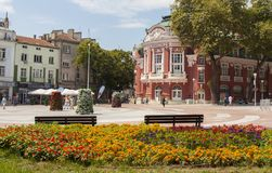VARNA, BULGARIA - AUGUST 14, 2015: Opera theatre, Varna, Bulgari Royalty Free Stock Images