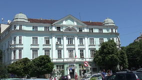 Varna. Bulgaria. Buildings, streets, districts. stock video