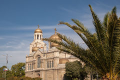Varna, Bulgaria. Cathedral of Byzantine style Stock Images