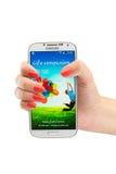 Varna, Bulgaria - 19 de junio de 2013: Modelo Samsung Galaxy del teléfono celular Imagen de archivo libre de regalías