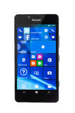 Varna, Bulgaria - 11 dicembre 2015: Telefono cellulare Microsoft di modello Fotografia Stock Libera da Diritti
