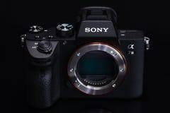 Varna, Bulgaria - February 7,2019: Sony Camera Alpha A7iii Mirrorless with full-frame 24-megapixel Exmor R back-illuminated stock photo