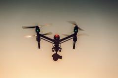 Varna, Bulgaria - July 09,2016: DJI Inspire 1 Pro drone quadcopter. Varna, Bulgaria - July 09,2016: Image of DJI Inspire 1 Pro drone UAV quadcopter which shoots stock image