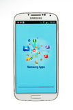 Varna, Bulgaria - June 19, 2013: Cell phone model Samsung Galaxy Royalty Free Stock Photography