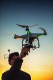 Varna, Bulgaria - June 23 ,2015: Flying drone quadcopter Dji Pha Royalty Free Stock Photo