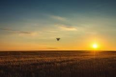 Varna, Bulgaria - June 23 ,2015: Flying drone quadcopter Dji Phantom 2 with digital camera GoPro HERO4 stock photography