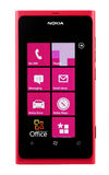 Varna, Bulgaria - Juny 03, 2012: Cell phone model Nokia Lumia 80 Royalty Free Stock Image