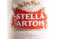 Varna, Bulgaria - 28 maggio 2018: Alluminium può di Stella Artois b Immagine Stock
