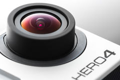 Varna, Bulgaria - 28 maggio 2015: Isola nero dell'edizione dell'eroe 4 di GoPro Immagine Stock