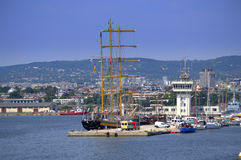 Varna Bulgaria. Varna maritime station and city scenic view on summer day royalty free stock photography
