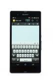 Varna, Bulgaria - 3 marzo 2013: Telefono cellulare Sony Xperia di modello Z Fotografie Stock