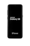Varna, Bulgaria - May, 11, 2017: Samsung Galaxy S8 smartphone. Varna, Bulgaria - May, 11, 2017: Studio shot of a black Samsung Galaxy S8 smartphone, with 12 MP Royalty Free Stock Photography