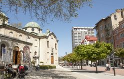 VARNA, BULGARIA - MAY 02, 2017: St. Nicolas orthodox church on boulevard knyaz Boris I. royalty free stock photos
