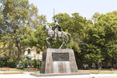 Varna, Bulgaria, monumento a re Kaloyan Fotografia Stock