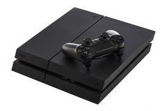 VARNA, Bulgaria - 18 November, 2016: Sony PlayStation 4 game console. Is a home video game console developed by Sony Interactive Entertainment royalty free stock photo