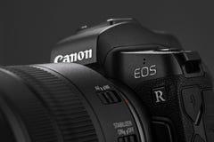 Free Varna, Bulgaria - October 11,2018: Image Of Canon EOS R Mirrorle Stock Photo - 128875860