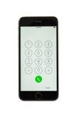 Varna, Bulgaria - October 31, 2015: Cell phone model Iphone 6s Royalty Free Stock Photos