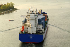 VARNA, BULGARIA - SEPTEMBER 26: Turkish cargo ship Stock Photo