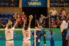 Volleyball match, World Cup Royalty Free Stock Image