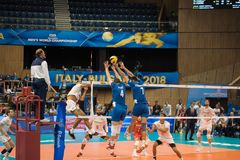 Volleyball match, World Cup Stock Photos
