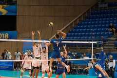 Volleyball match, World Cup Stock Image