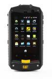 Varna, Bulgarie - 3 mars 2013 : Téléphone modèle B10 de Cat de téléphone portable Images libres de droits