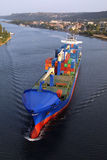 VARNA, BULGARIEN - 26. SEPTEMBER: Türkisches Frachtschiff Stockbilder