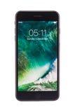 Varna Bulgarien - December, 04, 2016: Iphone 7 plus isolerat Arkivfoto