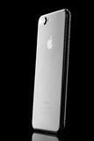 Varna Bulgarien - December, 04, 2016: svarta Iphone 7 plus den isolerade studion Arkivfoton