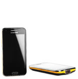 Varna, Bulgarien - 25. Juli 2012: Handy vorbildliches Samsung I8530 Lizenzfreies Stockbild
