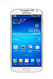 Varna, Bulgarien - 19. Juni 2013: Handy vorbildliches Samsung Galaxy Stockbild