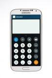 Varna Bulgarien - Juni 19, 2013: Mobiltelefonmodell Samsung Galaxy Arkivfoton