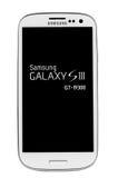 Varna Bulgarien - Juny 03, 2012: Mobiltelefonmodellen Samsung S3 har Royaltyfri Foto