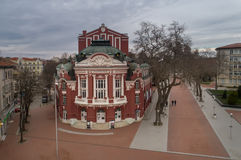 VARNA, BULGARIEN - 19. MÄRZ 2017: Das drastische Theater und die Oper in Varna, Bulgarien Im Jahre 1921 gegründet Stockfotos