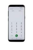 Varna Bulgarien - Maj, 11, 2017: Smartphone för Samsung galax S8 Fotografering för Bildbyråer