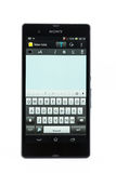 Varna Bulgarien - mars 03, 2013: Mobiltelefonmodell Sony Xperia Z Arkivfoton