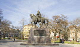 Varna Bulgarien, monument som gör till kung Kaloyan Royaltyfri Foto