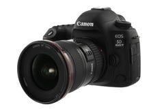 Varna Bulgarien - September 24, 2016: Kamera för Canon 5D fläckdropp Royaltyfri Foto