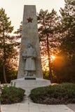 VARNA, BULGARIJE, 30 Augustus 2015, Alyosha-Monument bij zonsondergang, Dobrich, Bulgarije royalty-vrije stock afbeelding