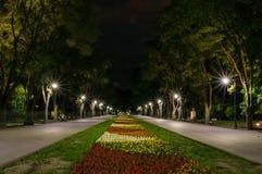 Varna Bulgarije - hoofdsteeg Overzeese tuin Stock Fotografie